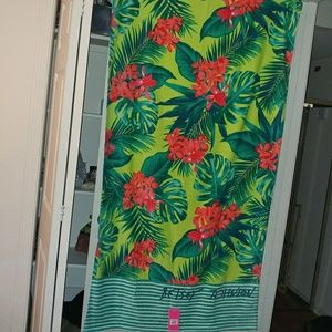 NEW🎀Betsey|cotton island green beach towel 🌴